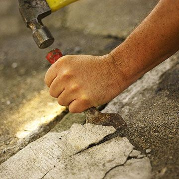 how to make a concrete patio look like flagstone