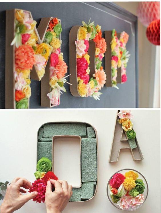 Blumen Buchstaben <3