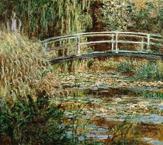 Claude Monet-Seerosenteich und japanische Brücke (Harmonie in rosa)