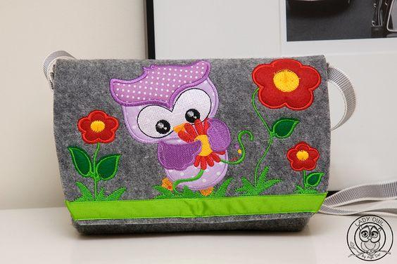 Kindergartentasche+von+Lady+Owl+auf+DaWanda.com