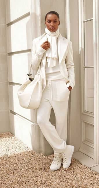 Make a statement in winter white with Ralph Lauren Collection: