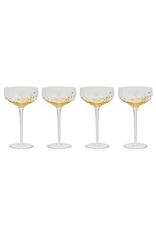 Glimmer Champagne Saucers on Next UK online shop Home Decor