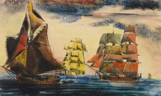 feininger, t. lux ships in the balt | maritime | sotheby's n09484lot8t2f6en: