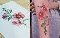 Rit Kit Tattoo tatuagens botânicas flores