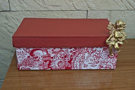 Cajas de zapatos forradas con papel reciclaje cajas de - Decorar cajas de zapatos ...