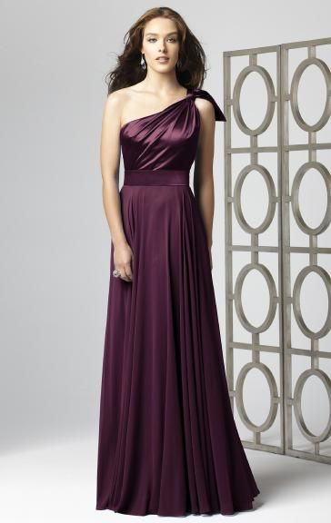 Custom Made Chiffon Grape Bridesmaid Dresses BNNAK0058-Bridesmaid UK