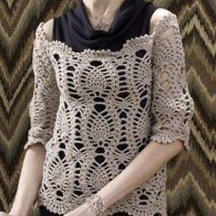 Come fare una maglia in cotone a uncinetto molto traforata ma romantica ed elegante