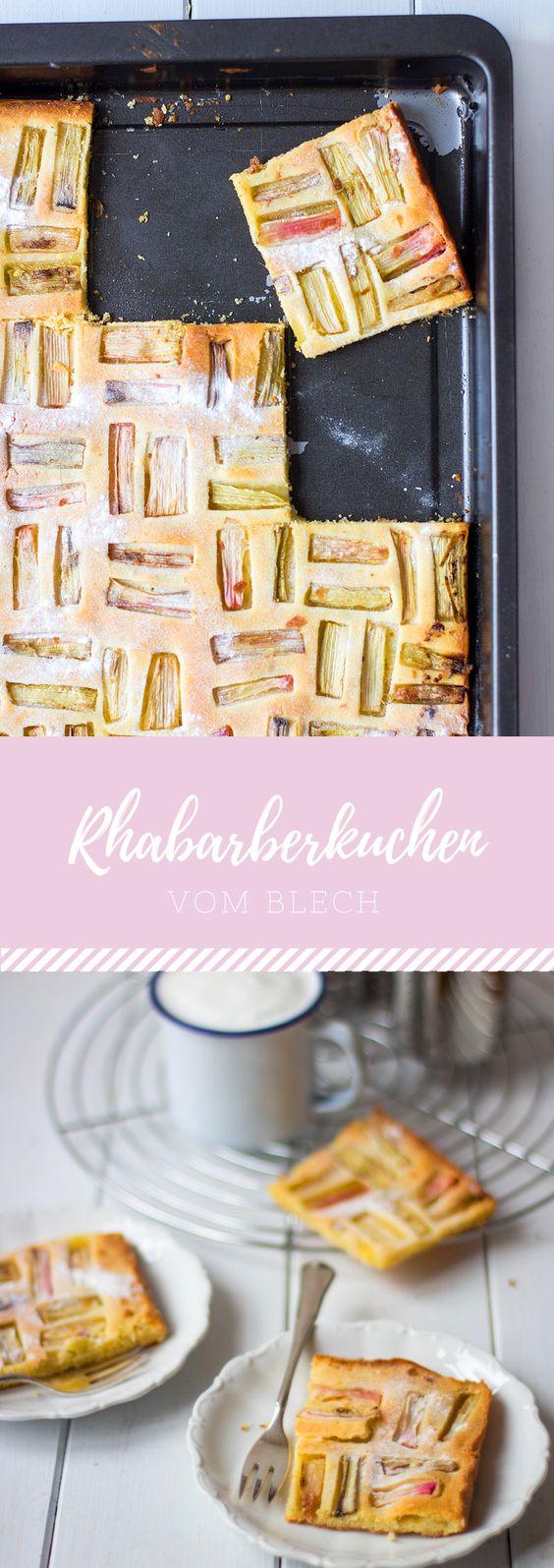 Super einfacher Rhabarberkuchen vom Blech
