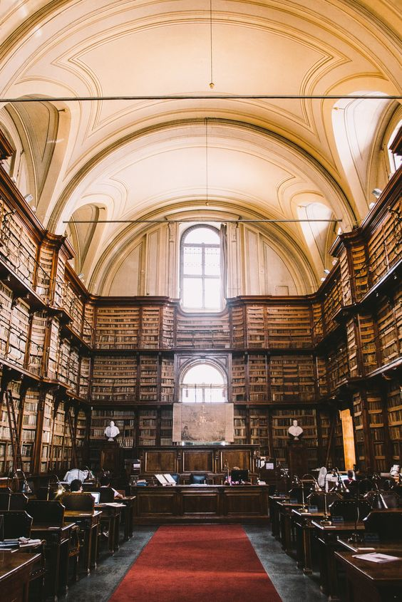 This beautiful old library in the heart of Rome is just one of many hidden secret's within the city.