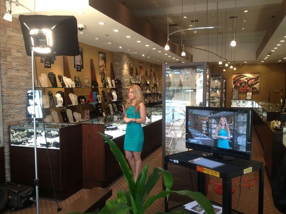 RTOWN Commercial Shoot at Artina's Jewellery in Gastown! Keep your eyes peeled on the screens to catch the video