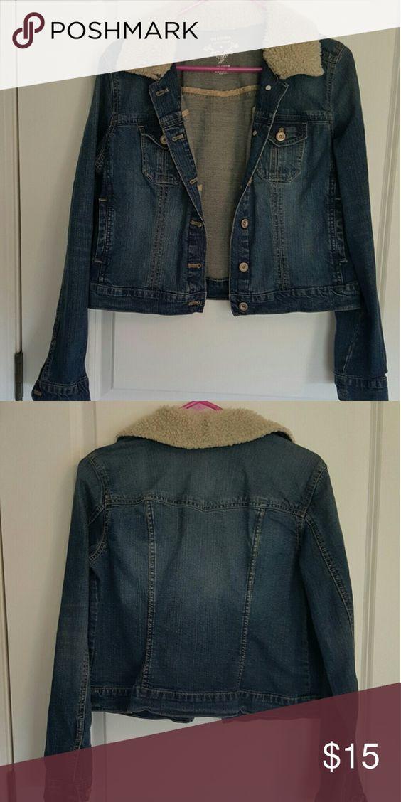 Denim jacket Denim jacket with sherpa collar Sonoma Jackets & Coats Jean Jackets