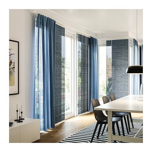 Vidga Triple Curtain Rail White 55 With Images Curtain