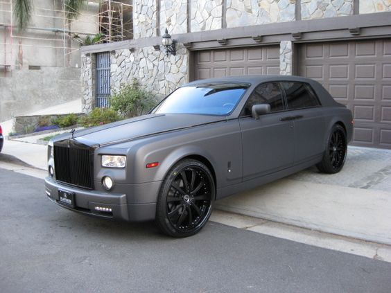 Matte Grey Rolls Royce Phantom Does A Personal Driver