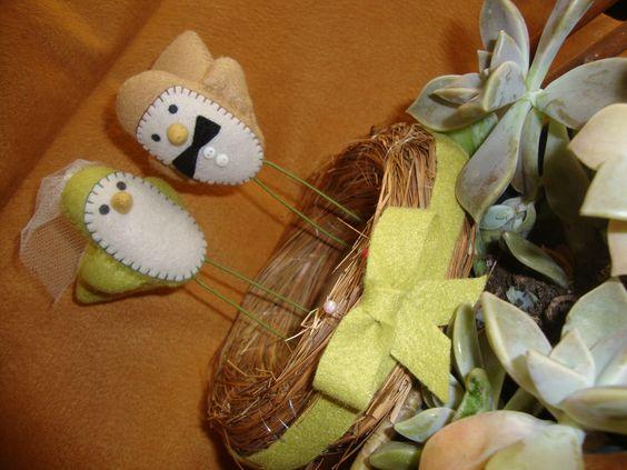 Birds <3 topo de bolo
