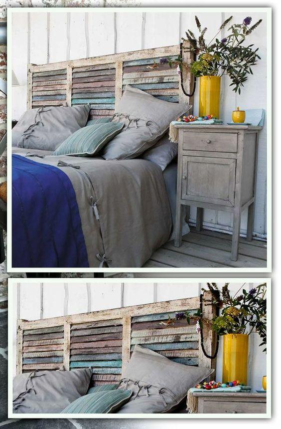 Récup palettes- 34  chambres à coucher- la tête de lit palette - fabriquer-pas-cher-chambre-a-coucher
