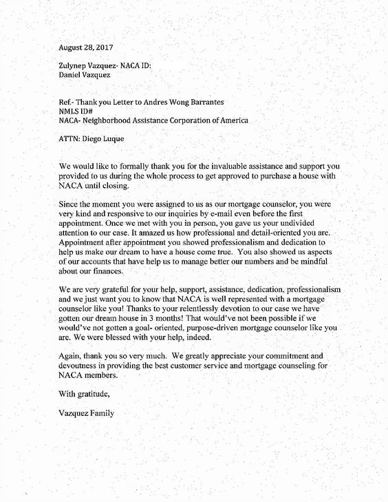 A wonderful letter recently received in our #Charlotte office - mortgage commitment letter