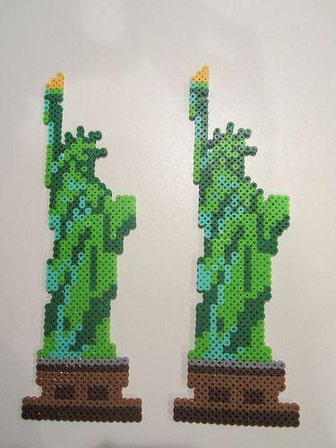 Statue Of Liberty Frihedsgudinden Dekoration Og Perler