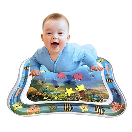 Amazon Com Inflatable Tummy Time Baby Water Play Mat For Infants Toddlers Bpa Free Leakproof Activity Center For New Tummy Time Tummy Time Mat Water Play Mat