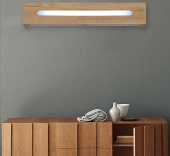 Modern Simple Nordic Wooden Led Wall Light Fixtures Stair Bathroom Mirror Beside Lamp Wall Sconce Arandela Wall Light Fixtures Wall Lamps Bedroom Led Wall Lamp