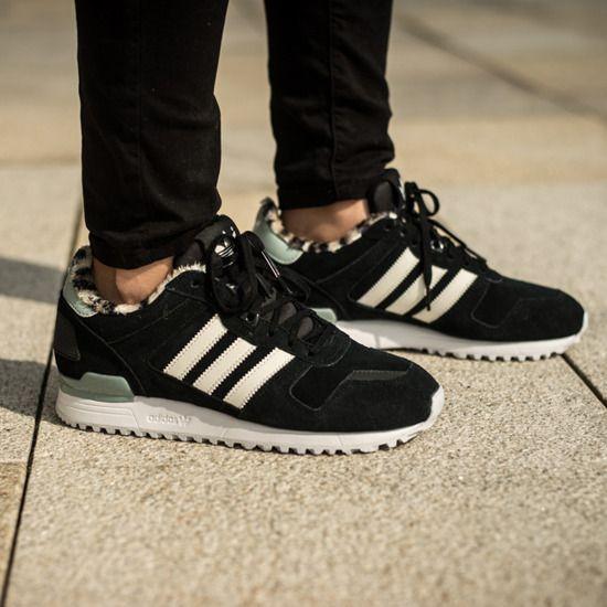 Best Discount Adidas Zx 700 Core Ftw Shoes Black Womens Leopard White