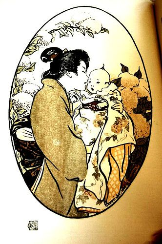 Japanese Mother Kissing Baby (1912)