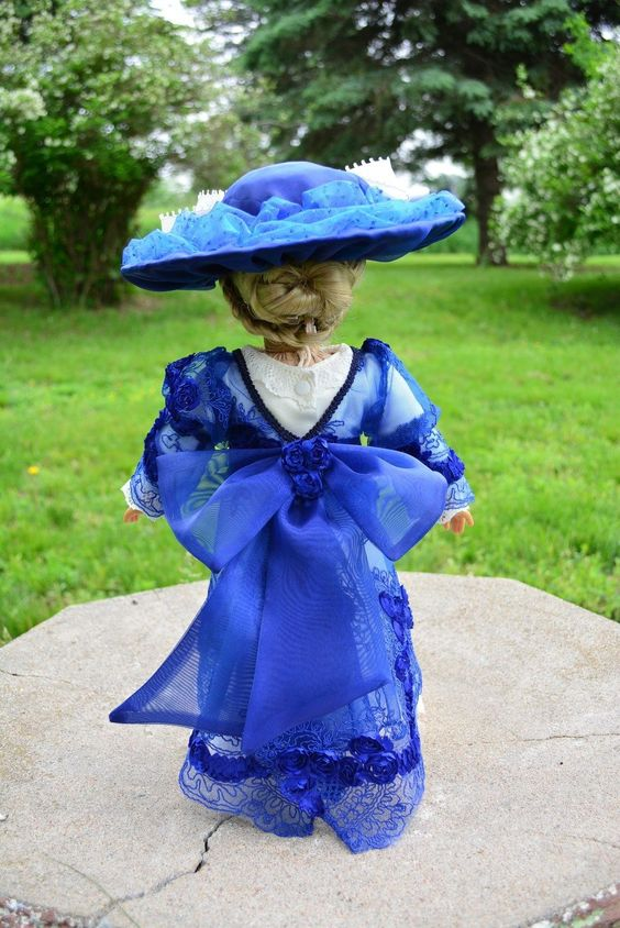 """Edwardian Titanic Downton Abbey Dress Gown Clothes Oufit for 18""""American Girl 