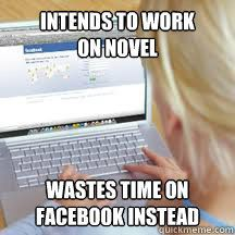 Facebook Writers Block (or in my case, Pinterest - every time!)