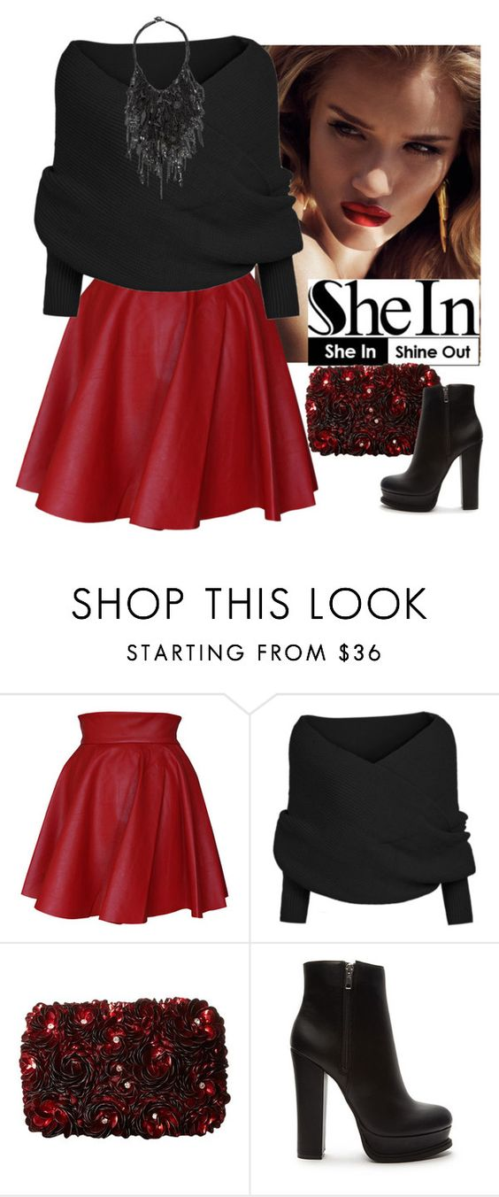 """""""Shein"""" by sejdina ❤ liked on Polyvore featuring Funlayo Deri, Alice + Olivia, Forever 21, Vera Wang, women's clothing, women's fashion, women, female, woman and misses"""