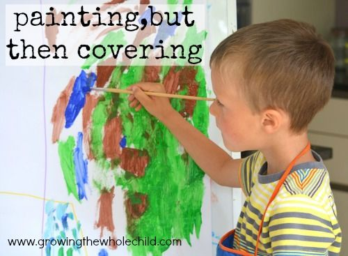 painting, but then covering