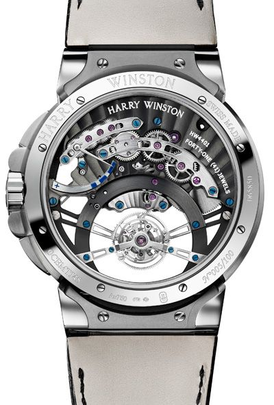 #Montre : Harry Winston Ocean #Tourbillon Jumping Hour Caseback - #watch