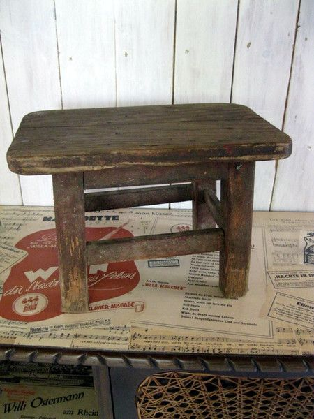 Vintage Hocker - Vintage Holzschemel