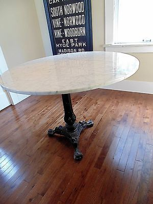 Vintage Round Marble Dining Table Large Size 38 Quot Seats 4