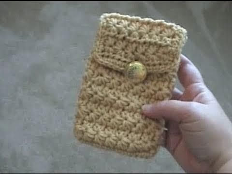 How to make a Crochet Cell Phone Pouch for Droid - Iphone - YouTube