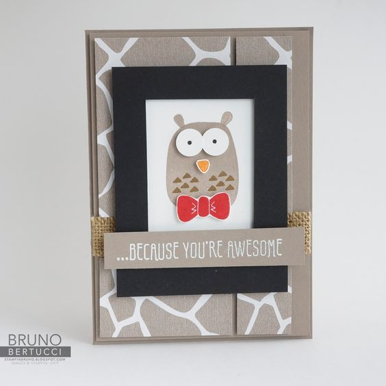 Bruno Bertucci | Stampin Up | stampinbruno | Playful Pals | Go Wild | Botanicals for You | Because You're Awesome | Handmade Card: