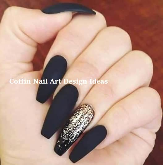 20 Trendy Coffin Nail Art Designs nailideas nailart