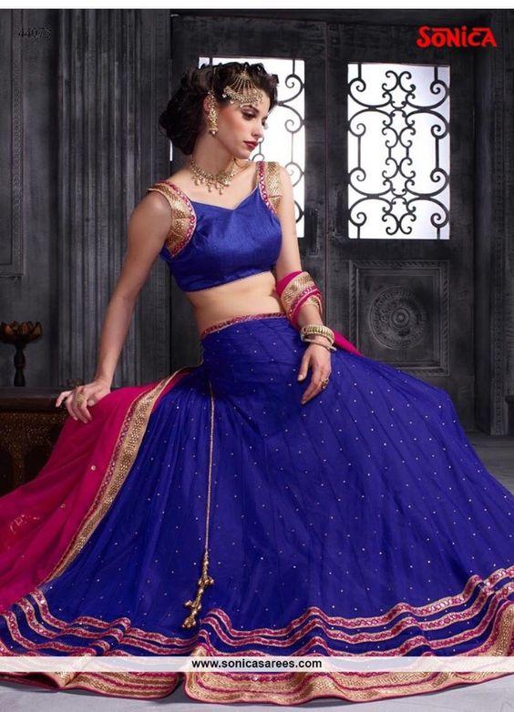 Price range Rs 4741/- Link: http://www.sonicasarees.com/lehenga-choli?catalog=3893 Shipped worldwide. Lowest price guaranteed.