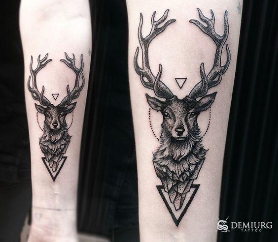 geometric deer tattoo - Buscar con Google