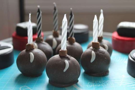 Cake Pop or Truffle Bomb cake candle holders Secret Agent SPY Party | CatchMyParty.com
