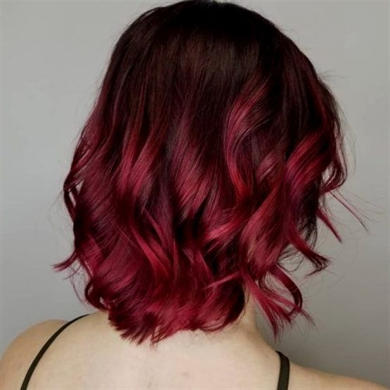 Black To Cherry Red Ombre Redombrehair Short Ombre Hair Black Hair Ombre Red Ombre Hair