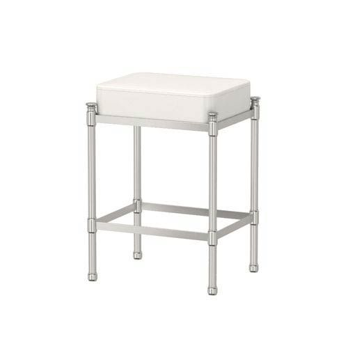 Gatco Satin Nickel Vanity Stool 1357 In 2020 Vanity Stool