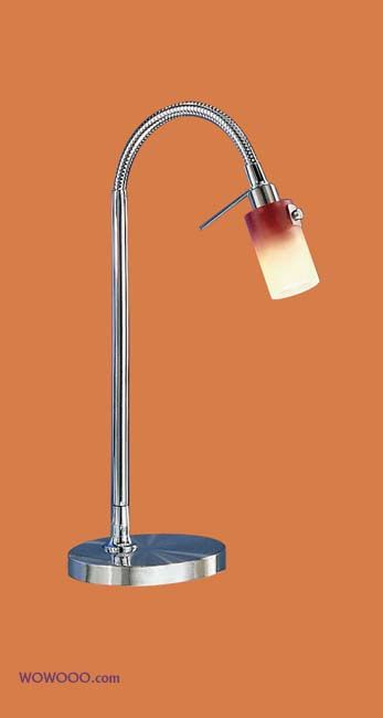EGLO Benga desk lamp- nickel- red