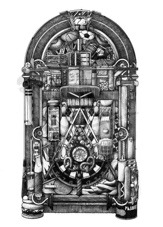 Line Art Jukebox : Juke box ds art amazing artwork pinterest jukebox