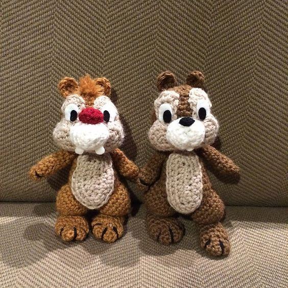 Amigurumi Disney Tutorial : Chip y Chop amigurumis amigurumi Pinterest Chips ...