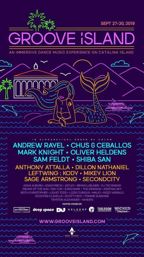 Groove Island 2019 Lineup Festival Flyer Festival Music Festival Poster