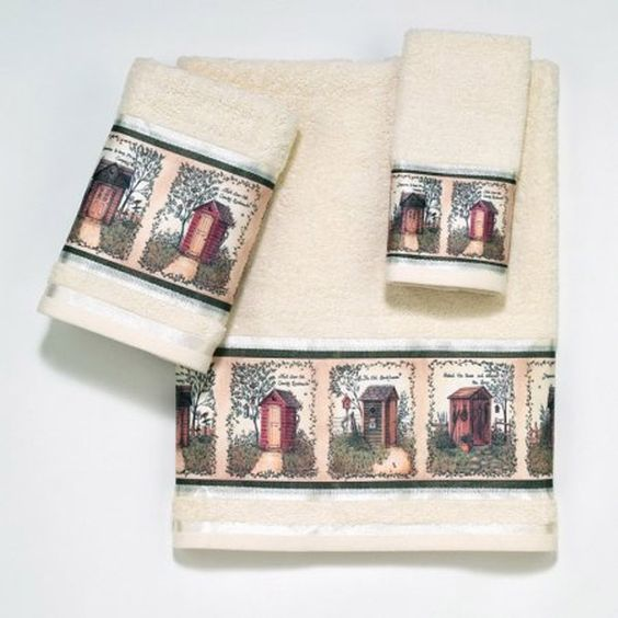Outhouses Beige Bath Towel By Avanti Outhouses