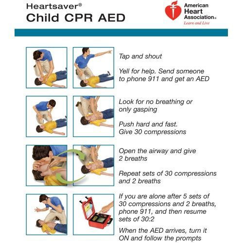 Cpr Instruction Sheets Infants Heartsaver Child And Infant Cpr Aed Wallet Card 100 Pk Firstaid First Aid Cpr Child Cpr Cpr Instructions Heart For Kids