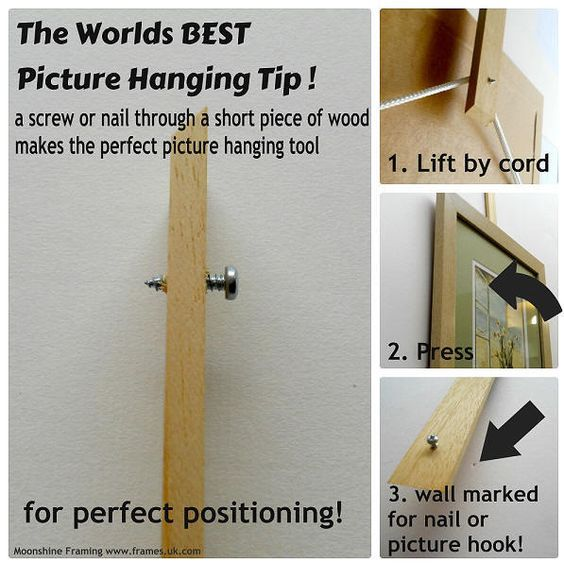 Easy positioning of pictures for photo walls or galleries - Here's a pro-tip of the trade!