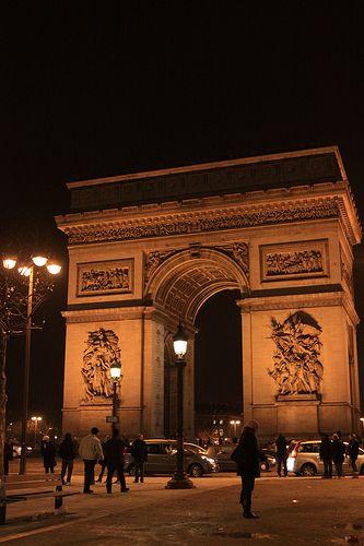 Arco do Triunfo, Paris, França.