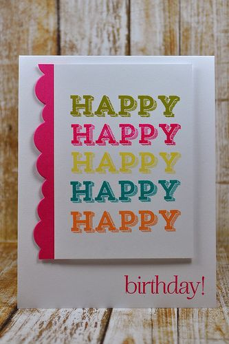 Happy Birthday card - fun & bright