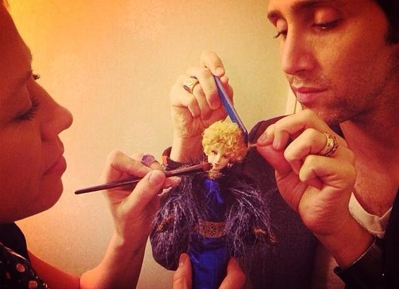 #EffieBarbie in hair and makeup with Fiona Stiles and Adir Abergel.